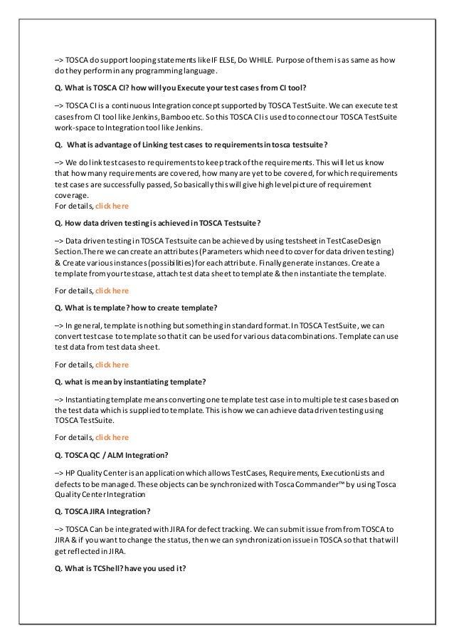 Tosca interview Q&A