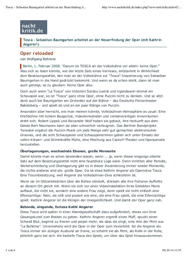 Tosca – Sebastian Baumgarten arbeitet an der Neuerfindung d... http://www.nachtkritik.de/index.php?view=article&catid=42:....