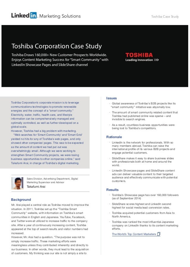 """Background Mr. Arai played a central role as Toshiba moved to improve the situation. In 2011, Toshiba set up the """"Toshiba ..."""