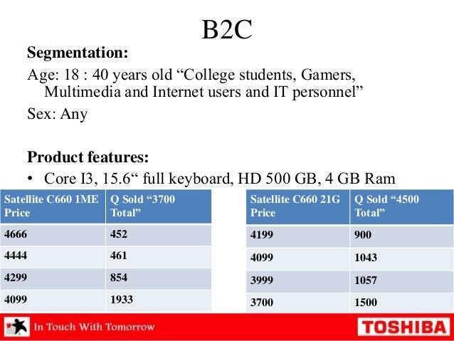 market segmentation of hp laptops