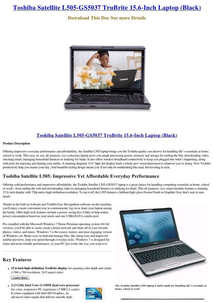 Toshiba satellite l355d-s7815 review: toshiba satellite l355d.