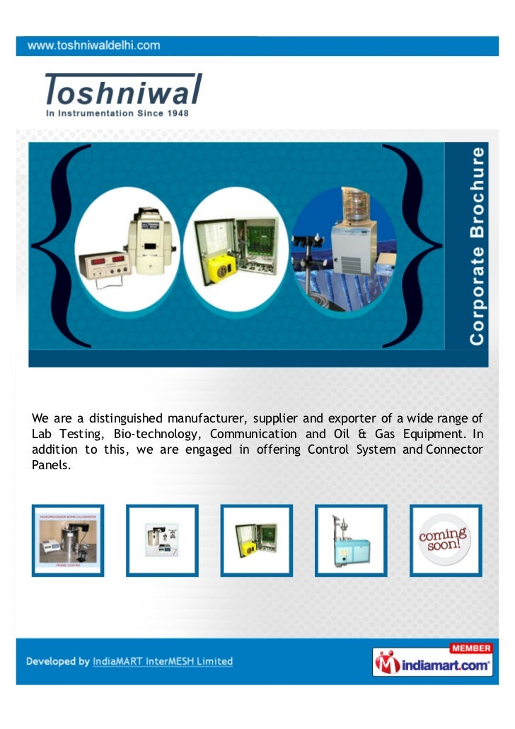 We are a distinguished manufacturer, supplier and exporter of a wide range ofLab Testing, Bio-technology, Communication an...