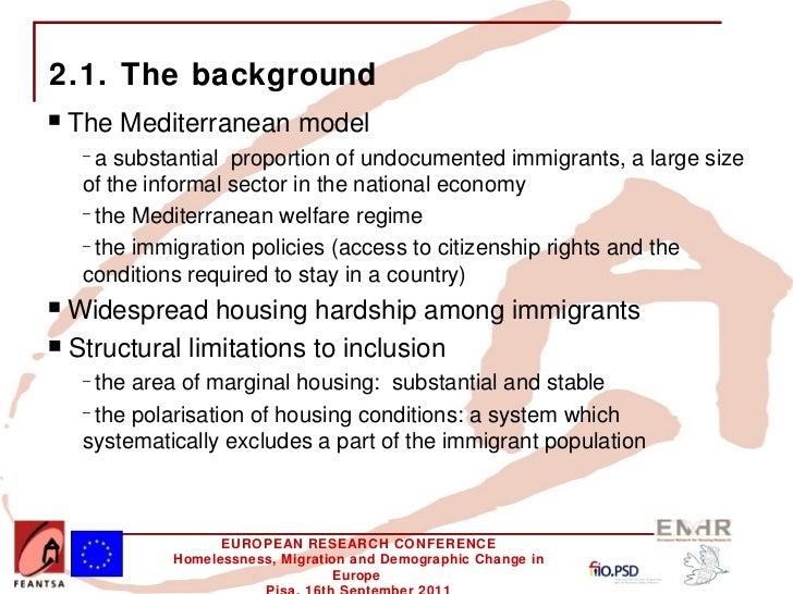 The mediterranean model homeless immigrants and informal housing in - Mediterrane mobel ...
