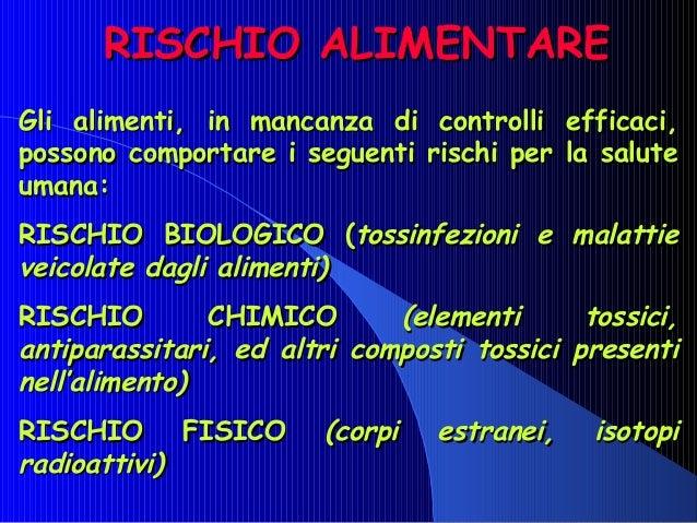 RISCHIO ALIMENTARERISCHIO ALIMENTAREGli alimenti, in mancanza di controlli efficaci,Gli alimenti, in mancanza di controlli...