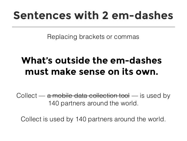 Sentences With 2 Em Dashes Replacing