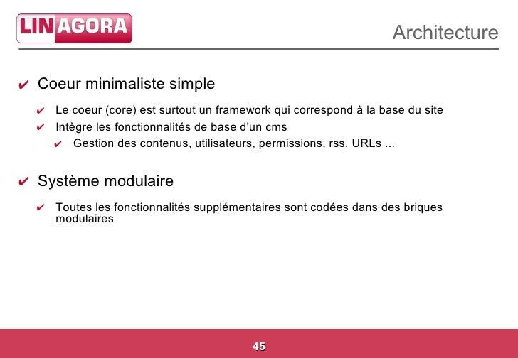 S minaire cms libres octobre 2008 linagora for Architecture modulaire definition