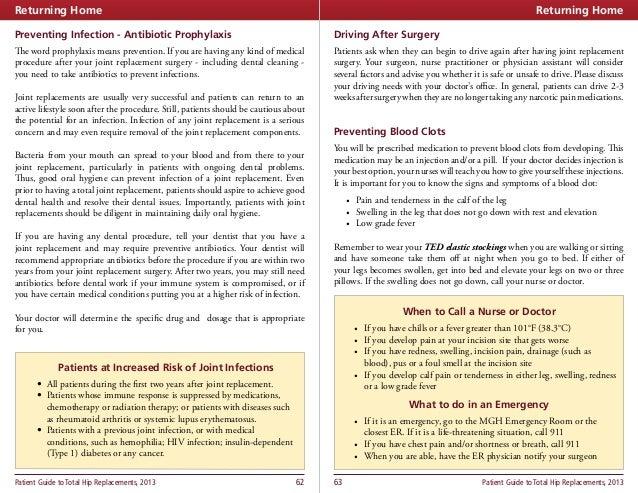 prophylactic antibiotics after joint replacement