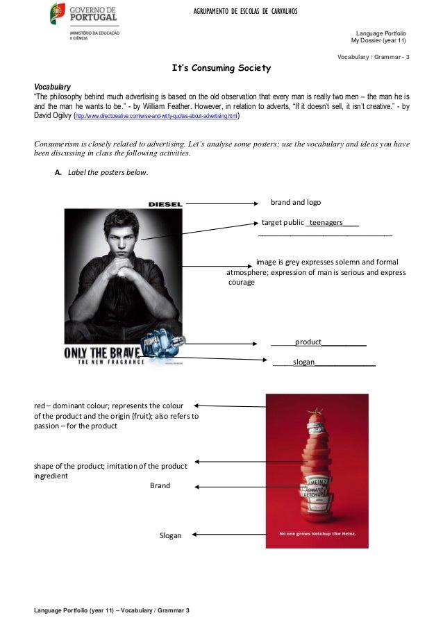 AGRUPAMENTO DE ESCOLAS DE CARVALHOSLanguage PortfolioMy Dossier (year 11)Language Portfolio (year 11) – Vocabulary / Gramm...