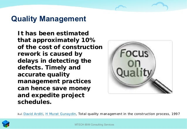 Total quality management in construction