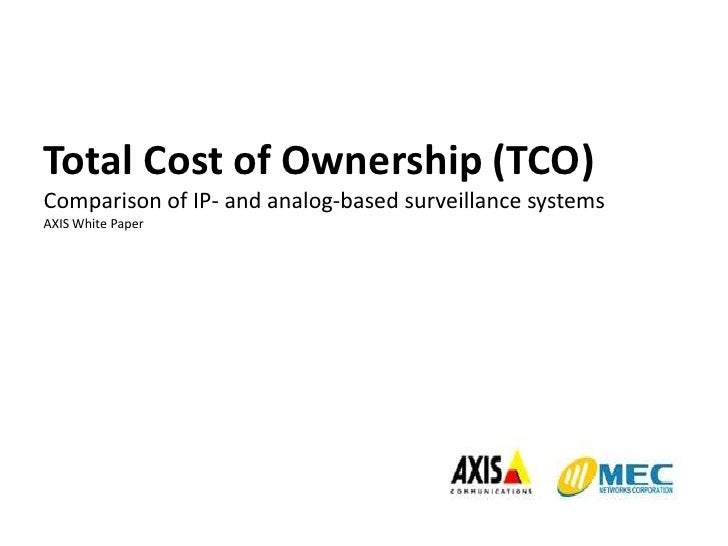Total Cost of Ownership (TCO)Comparison of IP- and analog-based surveillance systemsAXIS White Paper<br />