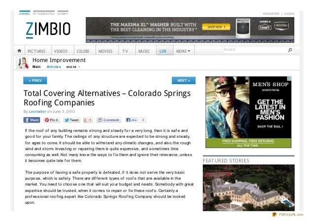 ZIMBIO STYLEBISTRO LONNY REGISTER LOGINMain Art iclesHome Improvement« PREV NEXT »Total Covering Alternatives – Colorado S...