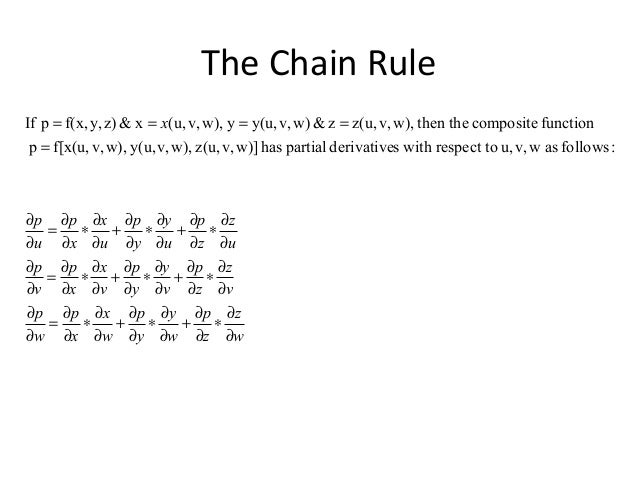 Engineering Mathematics Total Derivatives Chain Rule