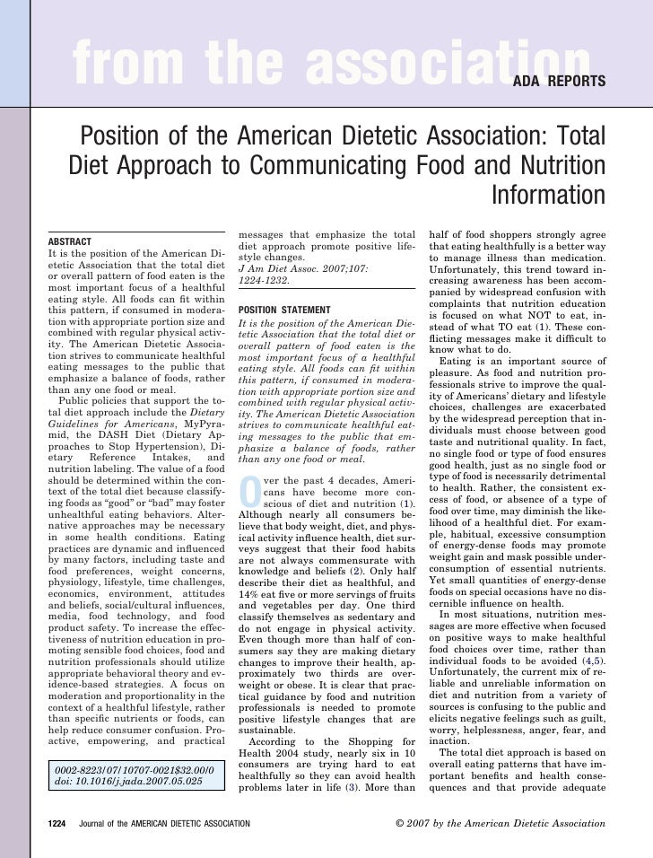 from the association                                                                                   ADA REPORTS        ...