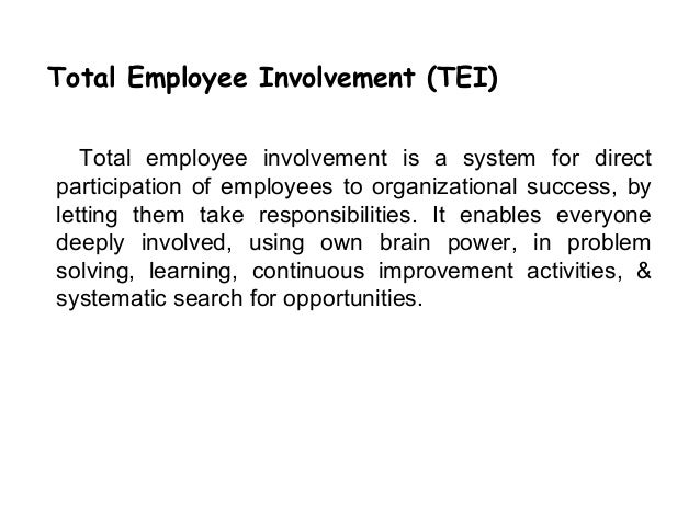 "questionnaires of total employee involvement How to design an employee engagement survey sm this measure of connection and effort was named ""employee engagement"" send your questionnaire for review."