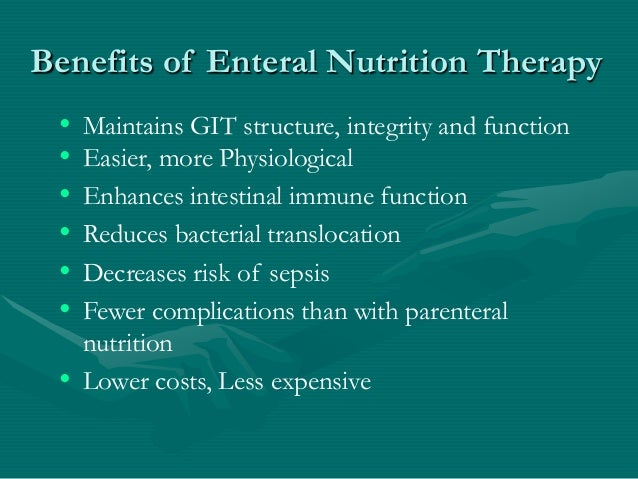 what is enteral nutrition therapy