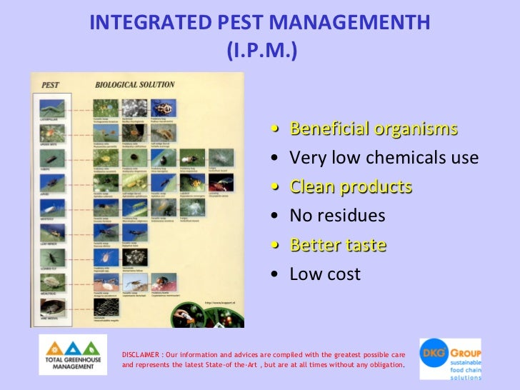INTEGRATED PEST MANAGEMENTΗ            (Ι.P.M.)                                                •     Beneficial organisms ...