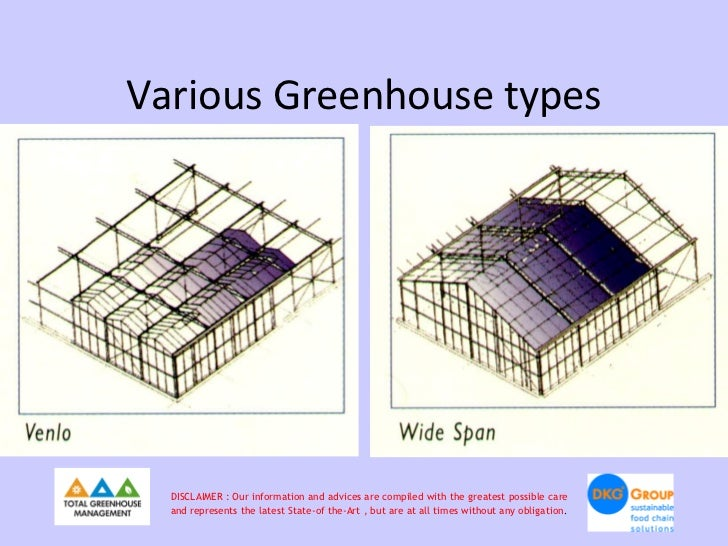 Various Greenhouse types  DISCLAIMER : Our information and advices are compiled with the greatest possible care  and repre...