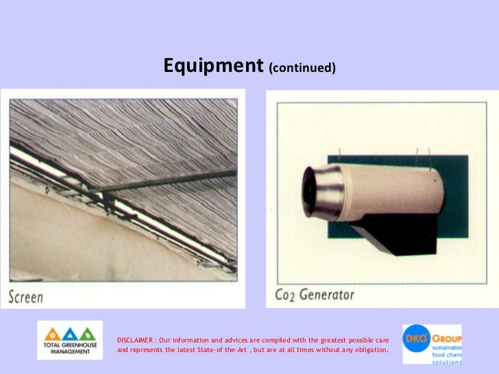 Equipment (continued)DISCLAIMER : Our information and advices are compiled with the greatest possible careand represents t...