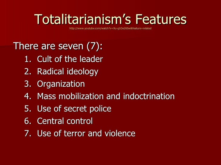 authoritarianism and totalitarianism How is america going to end five steps to totalitarian rule by josh levin as hitler and mussolini prepared to storm europe one thing the bush administration did right, totalitarianism-wise, was assert its supremacy over the rest of the government.