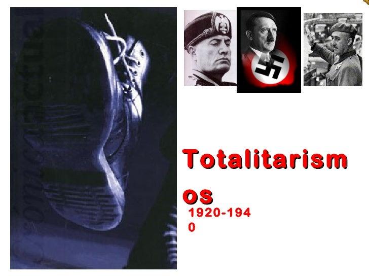 Totalitarismos1920-1940
