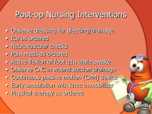 total knee replacement nursing management
