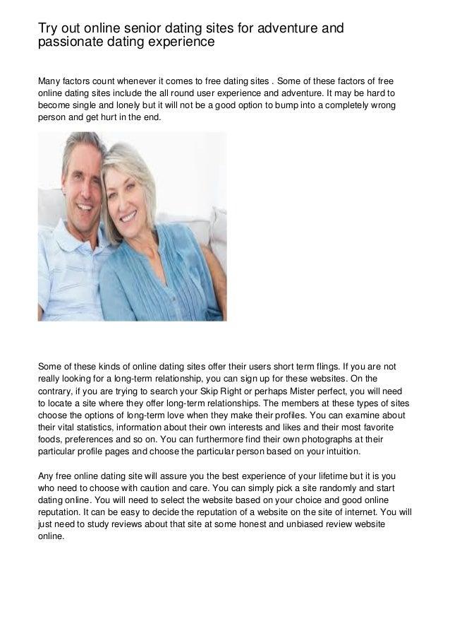 online senior dating sites