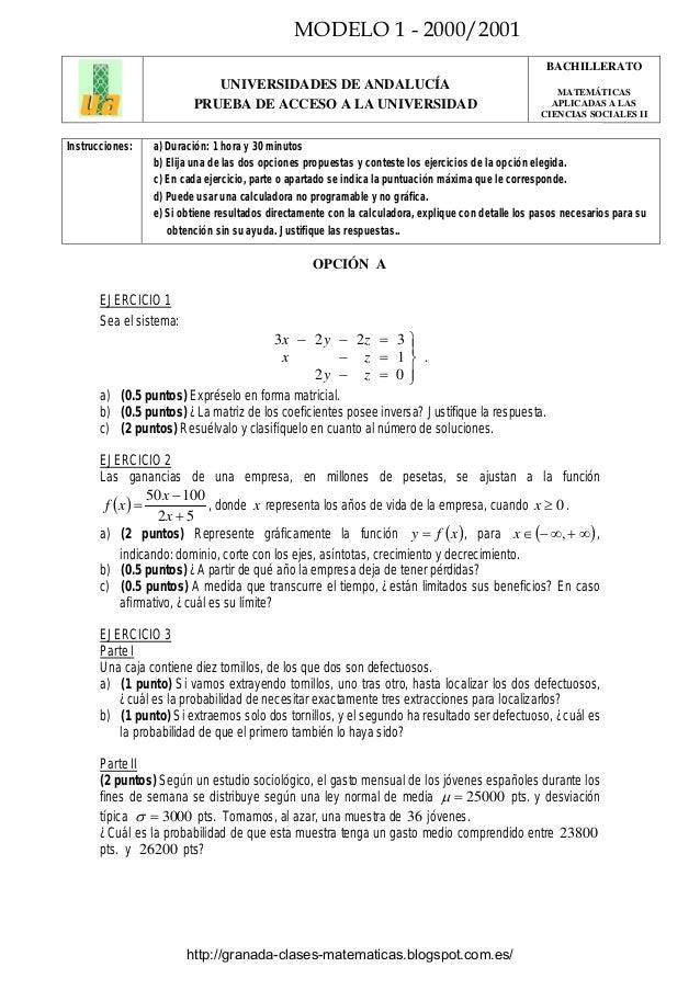 Examenes Resueltos Matematicas 1 Bachillerato Ccss Mednifico Com