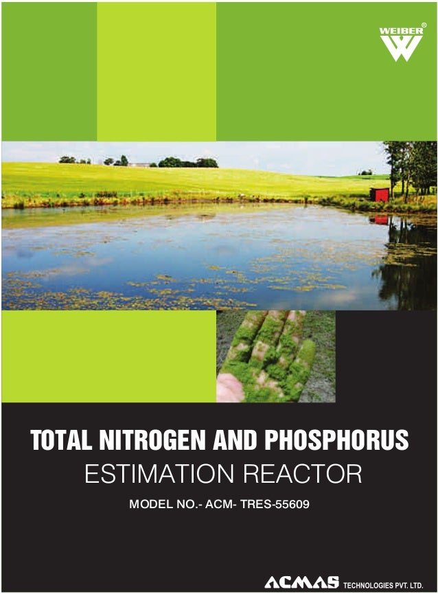 R  TOTAL NITROGEN AND PHOSPHORUS ESTIMATION REACTOR MODEL NO.- ACM- TRES-55609