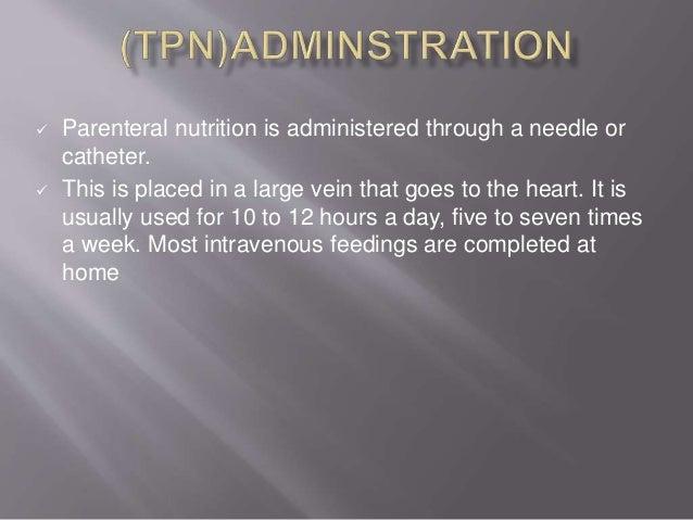 Total Parenteral Nutrition Tpn