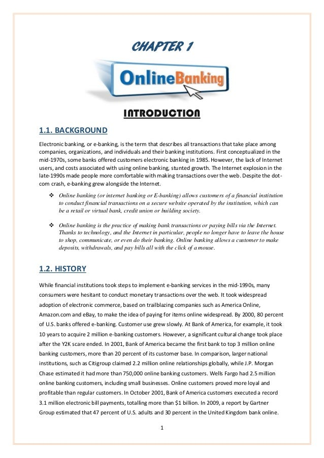 popularity of internet banking project pdf