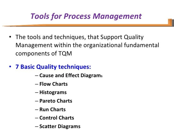 total quality management tools in fmcg By integrating a system of total quality management it's possible to  quality  auditing skills and continuous improvement tools – such as the.