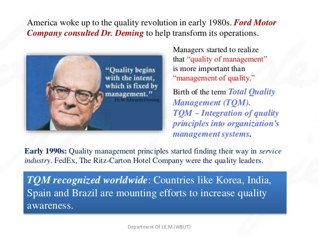 similarities between dr w edwards deming juran and crosby And contrasts his principals with those of dr w edwards deming tom peters hates quality but loves its principles and so do deming, juran, and crosby.