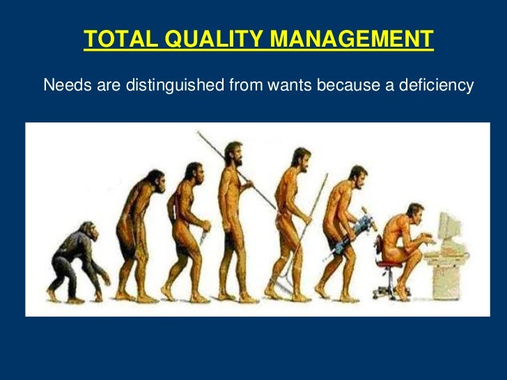 TOTAL QUALITY MANAGEMENTNeeds are distinguished from wants because a deficiency