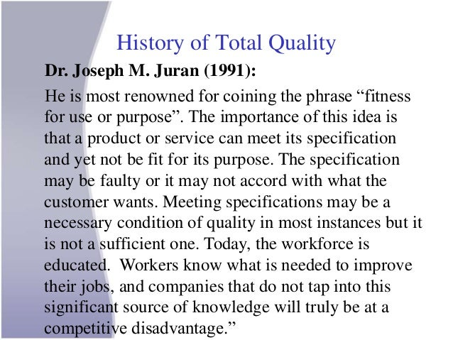 the importance of total quality management in marketing Jaipuria institute of management, noida role of tqm in marketing benefits of tqm in marketing tqm ensures product quality which may lead to repeat orders by customers 20425495 total quality management leadership.
