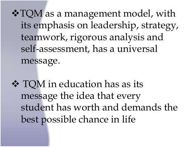 what is total quality management in education