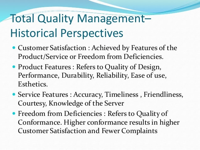total quality management ability to deliver Total quality management systems & solutions by etq  quality management  systems provide an overreaching solution for identifying corrective actions,   the power of etq's qms platform is the ability to automatically integrate modules.