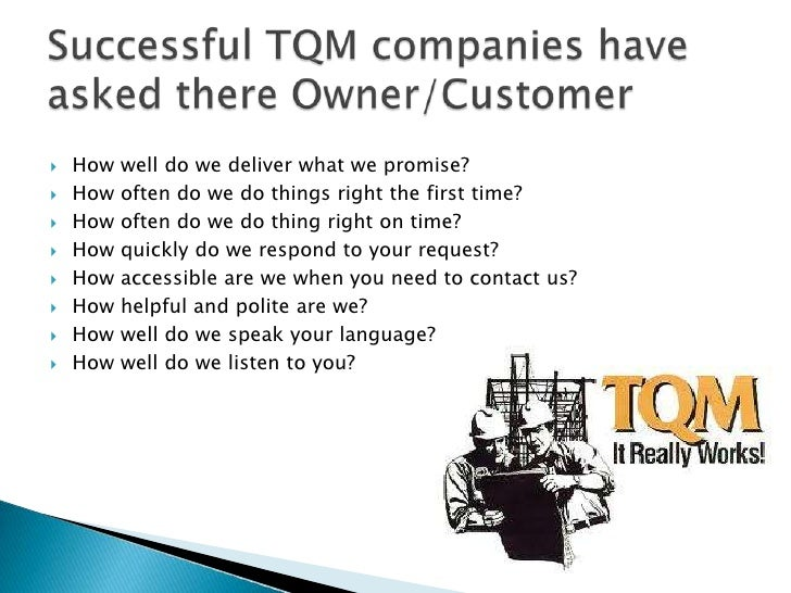 tqm walmart Total quality management (tqm) and total productive maintenance (tpm) are considered as the key operational activities of the quality management system.