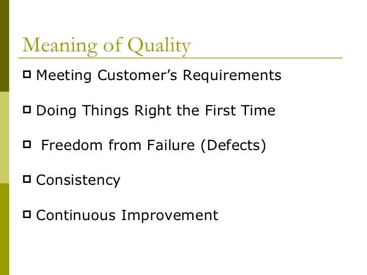 Total quality management report Slide 2