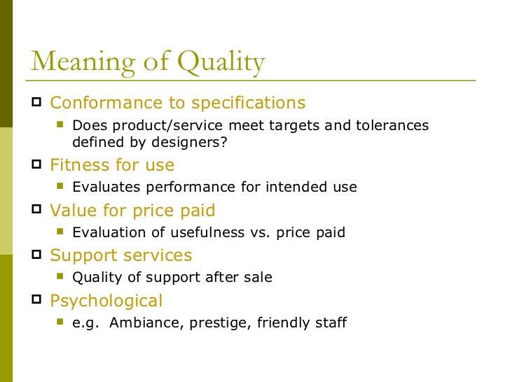 Total quality management report Slide 3