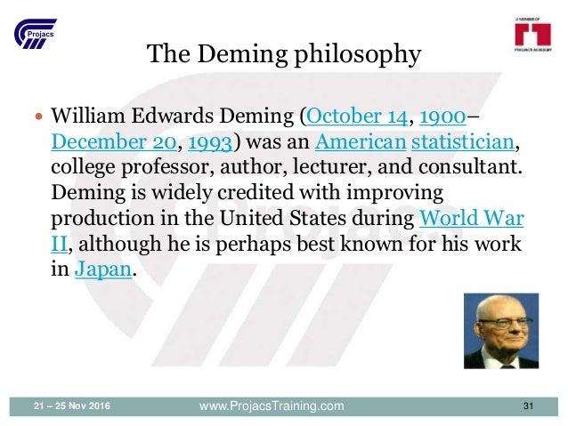 DEMING, WILLIAM EDWARDS