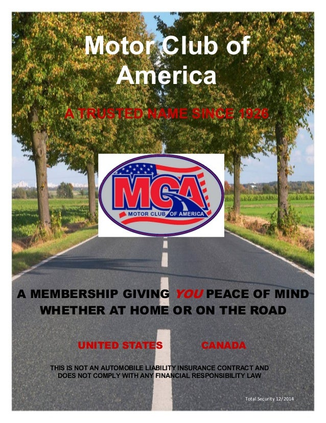 Motor club of america mca benefits and comp plan for Road america motor club