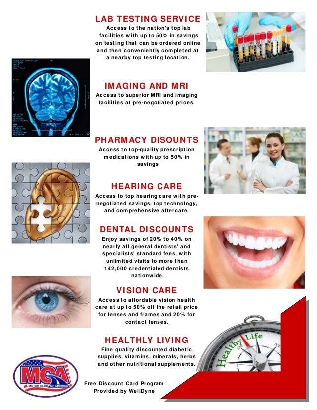 Motor club of america mca benefits and comp plan for Motor club of america dental discounts