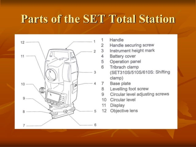 sokkia total station setup and operation rh slideshare net Tubular Sokkia Compass sokkia set 550x total station manual