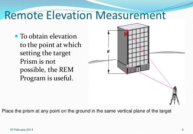 Total Station Topcon Exp Procedures - Elevation measurement