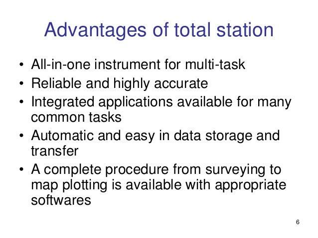 advantages of total station