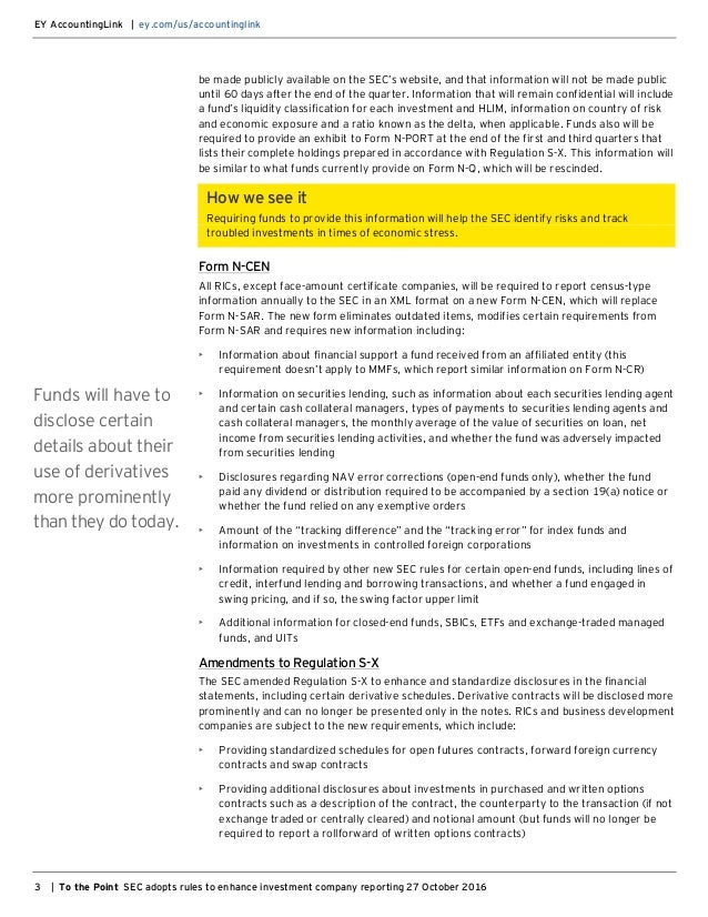 EY - To the Point - SEC adopts rules to enhance investment company re…