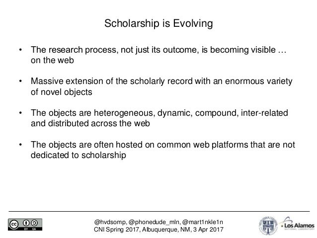 To the Rescue of the Orphans of Scholarly Communication Slide 3