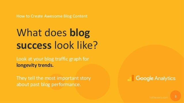 How to Create Awesome Blog Content That Generates Traffic Year-Over-Year Slide 3