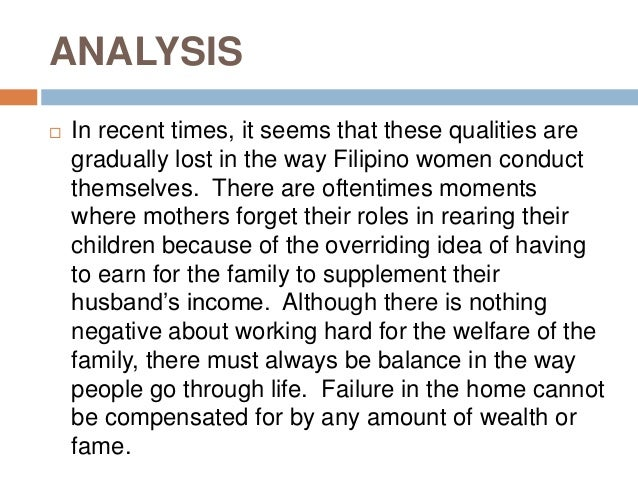 to the young womens of malolos explanation