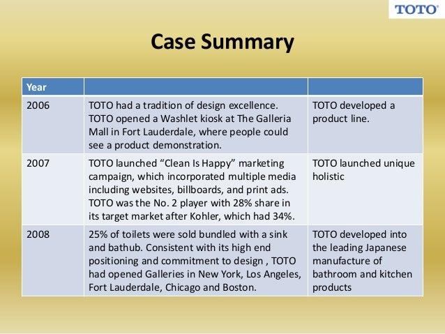 Toto case study